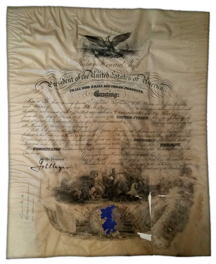 A Naval appointment signed by President William Howard Taft in 1911 and certified by PSA/DNA (#)Z04221. Used for PR-WHT02.